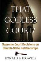 That Godless Court  PDF