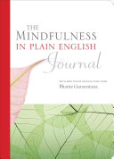 The Mindfulness in Plain English Journal Book