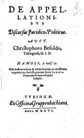 De appellationibus discursus iuridico-politicus
