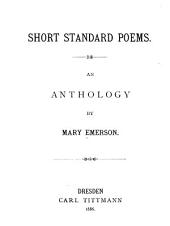 Short Standard Poems: An Anthology