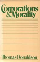 Corporations and Morality PDF