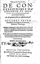 Tractatus De confessionibus maleficorum et sagarum, secundò recognitus, et auctior redditus