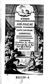 Esdras Tobias Judith Esther IOB. PSALMI (etc.): Volume 3