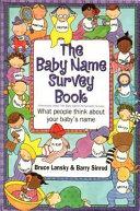 The Baby Name Survey Book