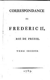 Correspondance de Frédéric II, roi de Prusse: Volume5
