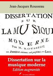 Dissertation sur la musique moderne: Nouvelle édition augmentée