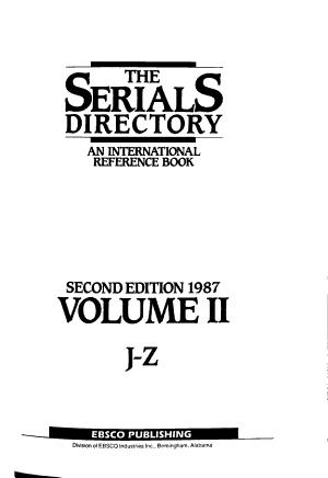 The serials directory PDF