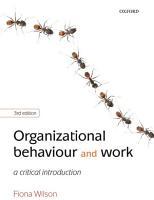 Organizational Behaviour and Work PDF