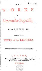 The Works of Alexander Pope Esq: Volume 9