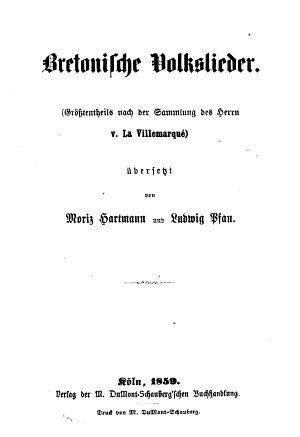 Bretonische Volkslieder PDF