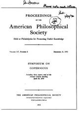 Proceedings, American Philosophical Society (vol. 117, No. 6, 1973)