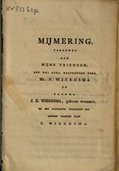 Ter nagedachtenis van Petrus Wierdsma, op den 9 januarij 1826 in het ijs verongelukt ...