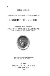 Chrysomela: A Selection from the Lyrical Poems of Robert Herrick
