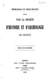 Mémoires et documents: Volume18