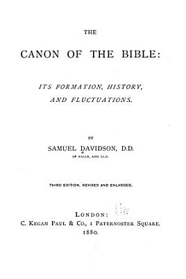 The Canon of the Bible PDF