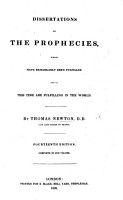 Dissertations on the prophecies  which have remarkably been fulfilled     The ninth edition PDF