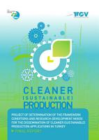 Cleaner  Sustainable  Production PDF