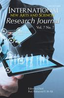International New Arts and Sciences Research Journal PDF