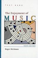 Test bank for the enjoyment of music PDF