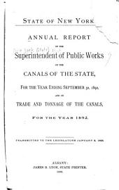 Annual Report of the Superintendent of Public Works