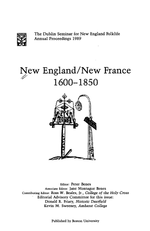 New England/New France, 1600-1850