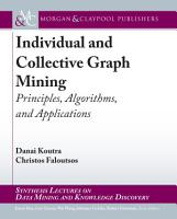 Individual and Collective Graph Mining PDF
