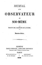Journal d'un observateur de soi-même