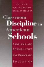 Classroom Discipline in American Schools