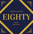 Happy 80th Birthday Guest Book (Hardcover)