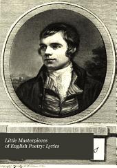 Little Masterpieces of English Poetry: Lyrics