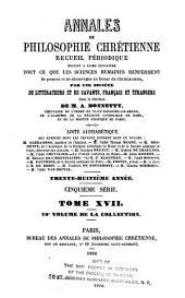 Annales de philosophie chrétienne: Volumes76à77