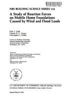 A Study of Reaction Forces on Mobile Home Foundations Caused by Wind and Flood Loads PDF