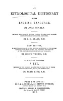 An Etymological Dictionary of the English Language PDF