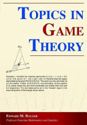 Topics in Game Theory PDF