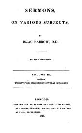 Sermons on various subjects: Volume 3