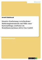 Situative Erarbeitung verschiedener Marketinginstrumente mit Hilfe einer Kartenabfrage; erarbeitet im Modellunternehmen All In One GmbH