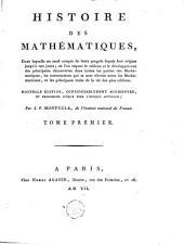 Histoire des mathématiques: Volume1