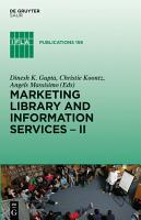 Marketing Library and Information Services II PDF