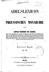 Adelslexikon der Preussischen Monarchie: Band 2