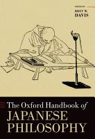 The Oxford Handbook of Japanese Philosophy PDF