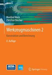 Werkzeugmaschinen 2: Konstruktion und Berechnung, Ausgabe 8