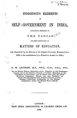 Indigenous Elements of Self government in India PDF
