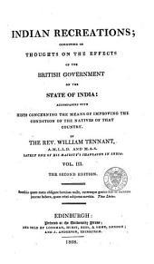 Indian Recreations: Volume 3