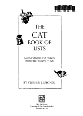 The Cat Book of Lists PDF