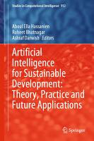 Artificial Intelligence for Sustainable Development  Theory  Practice and Future Applications PDF