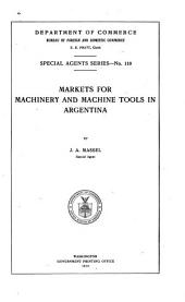 Markets for Machinery and Machine Tools in Argentina