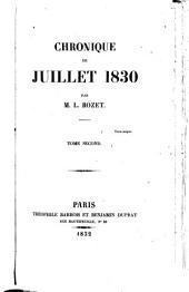 Chronique de juillet 1830: Volume2