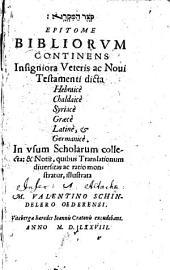 Qoṣer ham-miqrâ: Continens Insigniora Veteris ac Novi Testamenti dicta Hebraice, Chaldaice, Syriace, Graece, Latine, et Germanice
