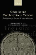 Semantics and Morphosyntactic Variation PDF