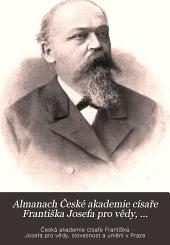 Almanach České akademie císaře Františka Josefa pro vědy, slovesnost a umění: Svazky 10–11